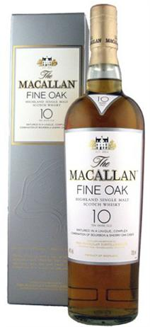 The Macallan Fine Oak Scotch Single Malt 10 Year